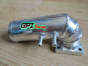 POLISHED ALUMINUM CARBURETTOR CARB PLENUM LOSTER TOP W/3CON. RENAULT 5 GT R9/R11