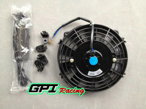 "7"" 12V Universal Push&Pull Electric Radiator Thermo^Cooling Fan&Mounting Kits"