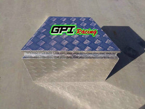 "Trailer Tongue 29""  Diamond Plate Aluminum Tool Box For Truck Pickup Storage"