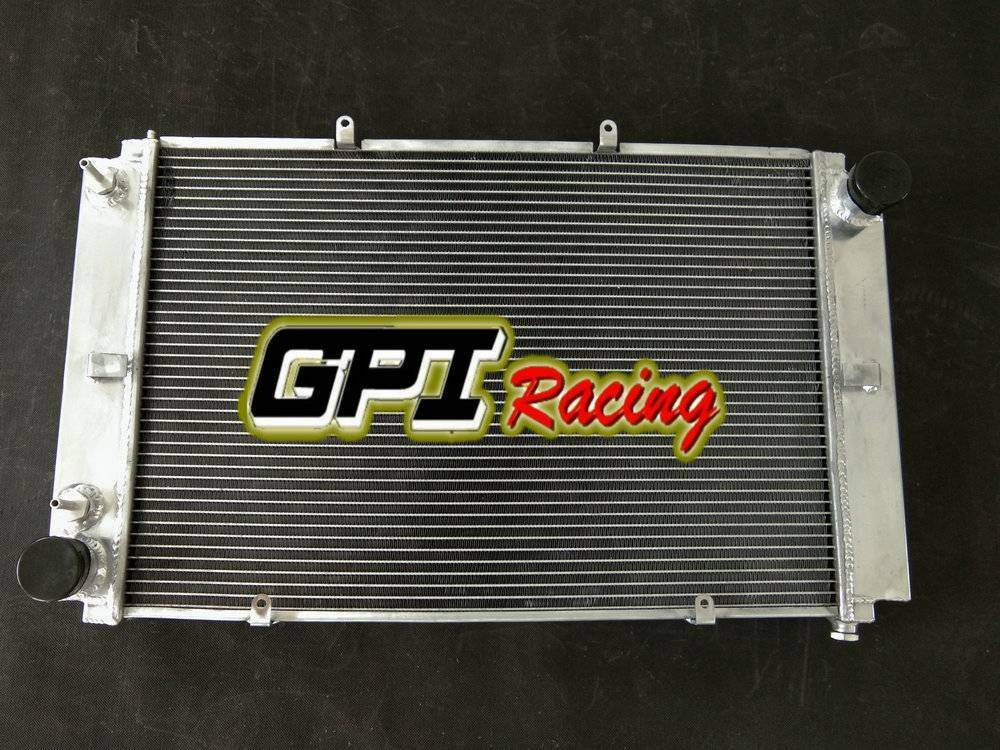 Fit Porsche 928 with Left oil cooler Full aluminum radiator 56mm CORE 2 Rows