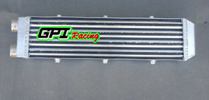 "For Delta Fin Design One Sided Aluminum Intercooler 550x140x70mm 2.2"" Inlet/out"