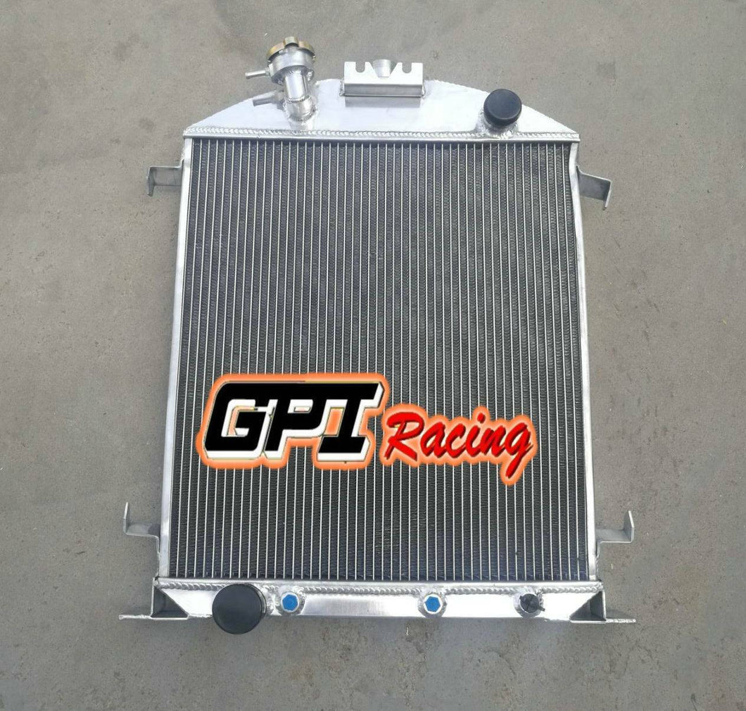 Aluminum Radiator Fit Ford Model A W/Ford 302 V8 AUTO 1928-1929 28 29 56mm Core
