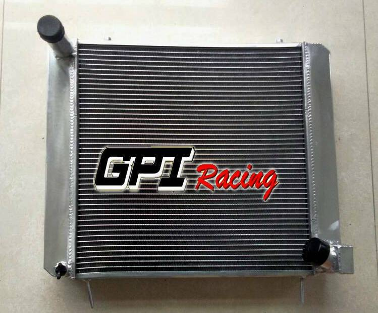 Aluminum Radiator For Jaguar 3.8L (XKE) E-Type Series 1 1961-1967 62MM CORE