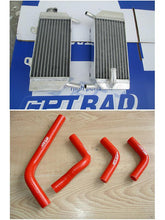 Load image into Gallery viewer, aluminum radiator and  hose for  2004-2009  HONDA CRF250R/CRF250X  CRF 250 R / CRF 250 X 2004 2005 2006 2007 2008 2009