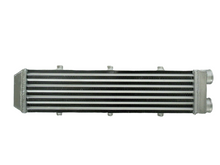 "Load image into Gallery viewer, For Delta Fin Design One Sided Aluminum Intercooler 550x140x70mm 2.2"" Inlet/out"