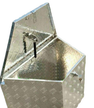 "Load image into Gallery viewer, Trailer Tongue 29""  Diamond Plate Aluminum Tool Box For Truck Pickup Storage"
