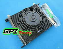 "Load image into Gallery viewer, 30 Row AN-10 AN Universal Transmission Oil Cooler & 7"" fan JAPAN TUNING CARS"
