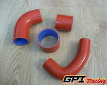 Load image into Gallery viewer, IMPREZA WRX STi GC8 VERS.3&4/EJ20 SILICONE TURBO INTERCOOLER HOSE 1997-1998 RED