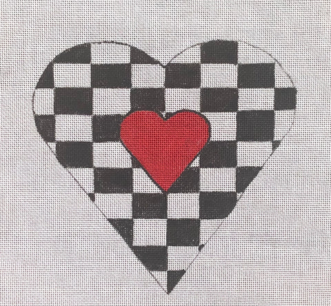 Black & White & Red Heart