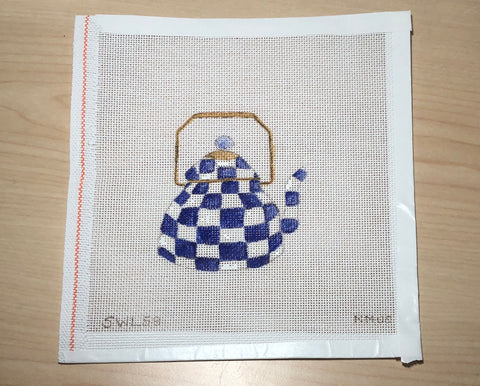 Blue & White Teapot Canvas