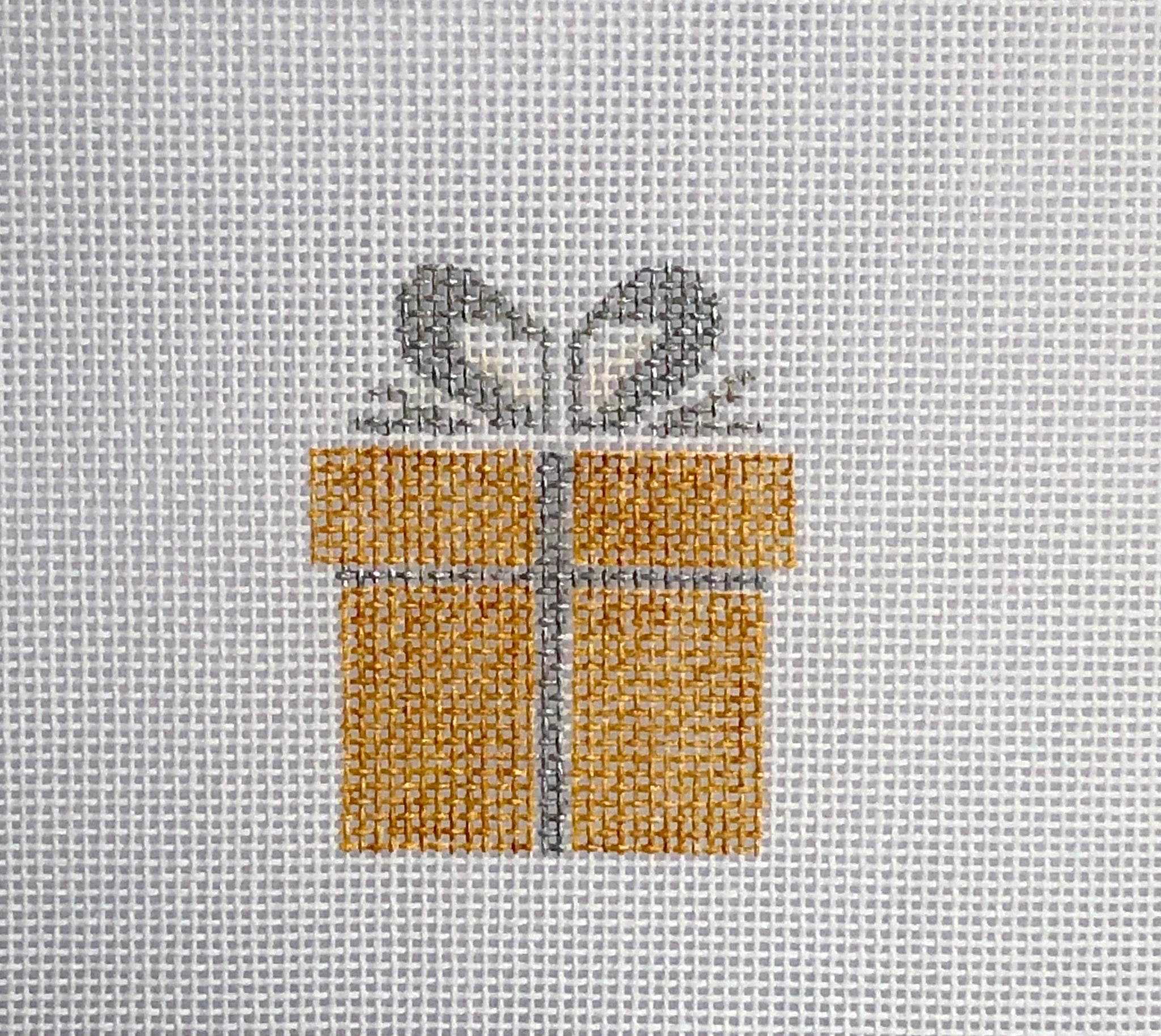 Gold Gift Box Canvas