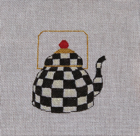 Black & White Teapot Needlepoint