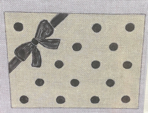 Dots & Bow Clutch Needlepoint Canvas