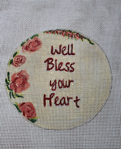Bless Your Heart Needlepoint