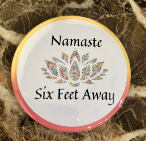 Namaste Six Feet Away Needleminder