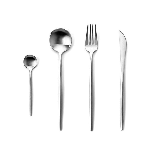 Stainless Steel Cutlery Set - Dinnerware Sets - Silver - Arezel.com