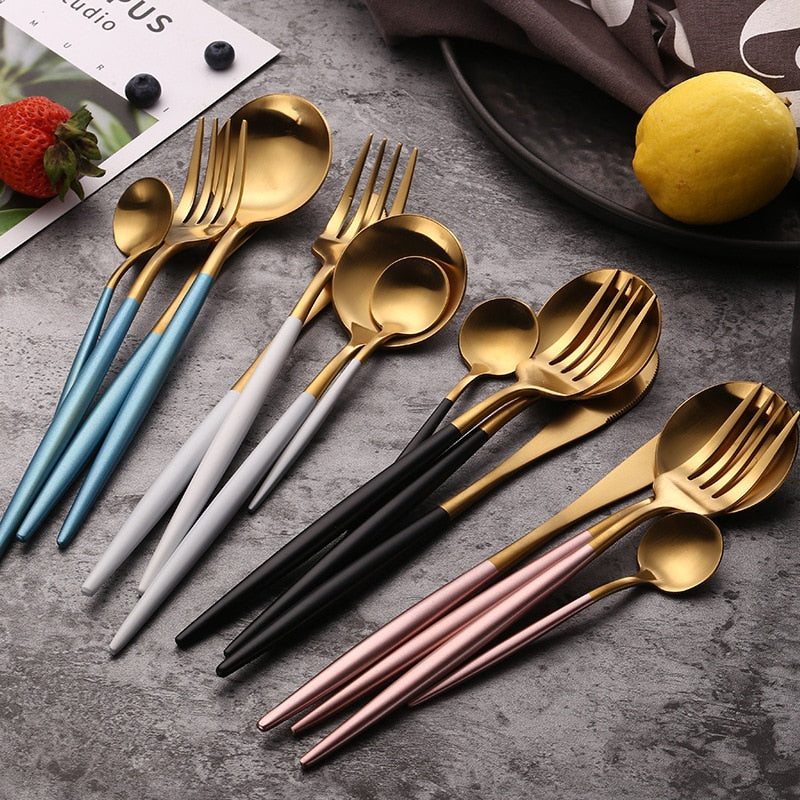 Stainless Steel Cutlery Set - Dinnerware Sets -  - Arezel.com