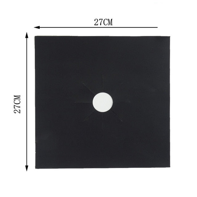 Gas Stove Protection Mat Set - Cookware Parts - 1pc black - Arezel.com