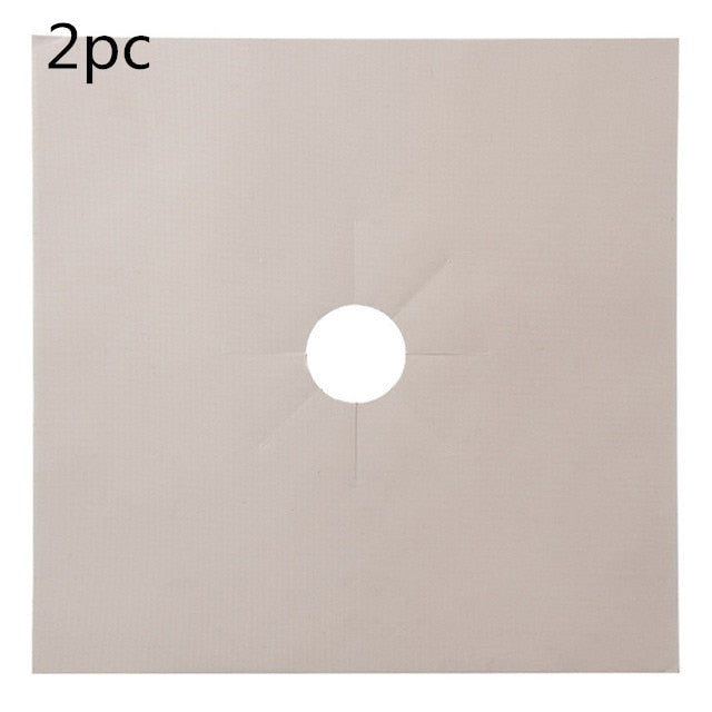 Gas Stove Protection Mat Set - Cookware Parts - 2pcs beige - Arezel.com