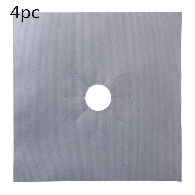 Gas Stove Protection Mat Set - Cookware Parts - 4pcs silver - Arezel.com