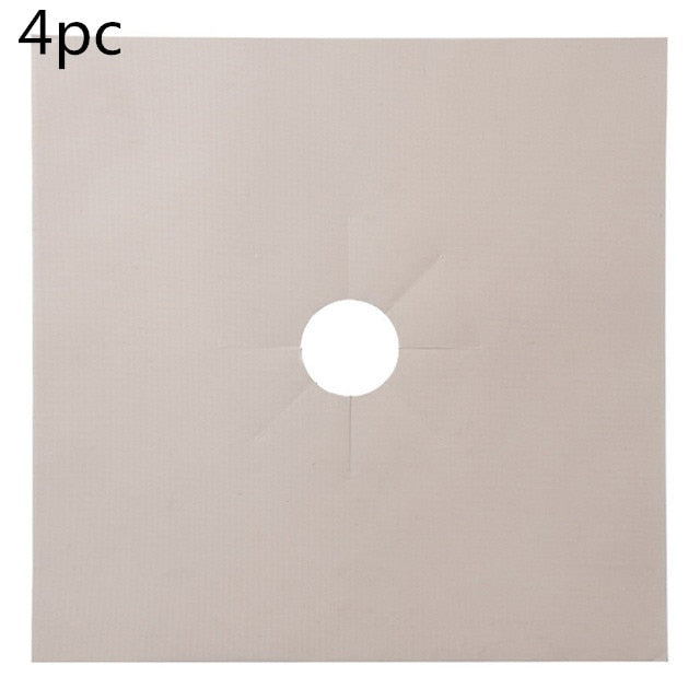 Gas Stove Protection Mat Set - Cookware Parts - 4pcs beige - Arezel.com