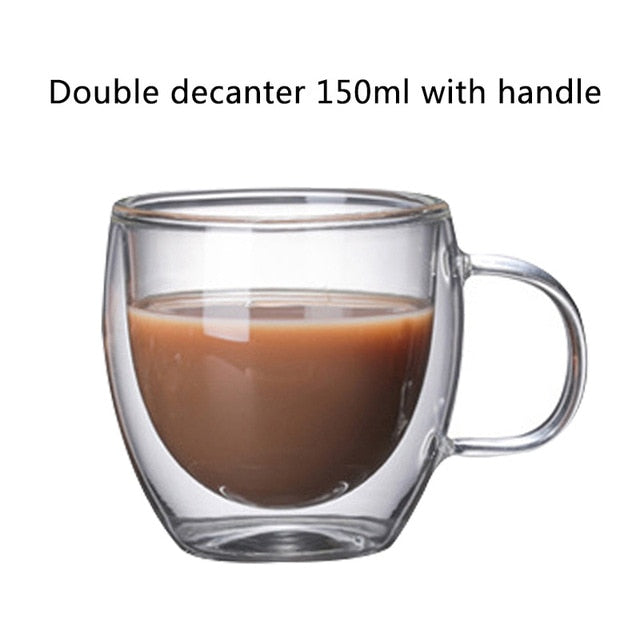 Double Layered Cups - Milk Mugs - Coffee glass 150 ml - Arezel.com