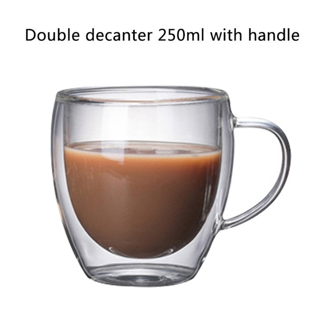 Double Layered Cups - Milk Mugs - Coffee glass 250 ml - Arezel.com