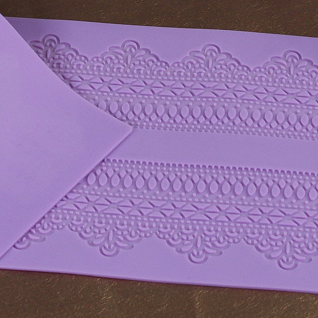 Lace Embossed Fondant Moulds