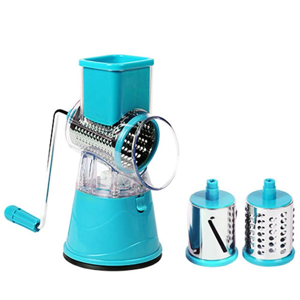 MagicSlice - Easy Vegetable & Fruit Grater - Fruit & Vegetable Tools - blue - Arezel.com