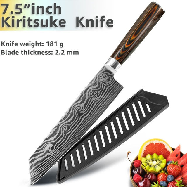Eco-Friendly Kitchen knife - Chef Knives - 7.5 Kiritsuke knife - Arezel.com