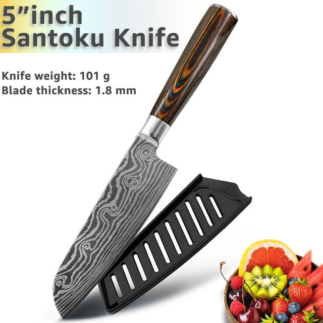Eco-Friendly Kitchen knife - Chef Knives - 5 inch Santoku knife - Arezel.com