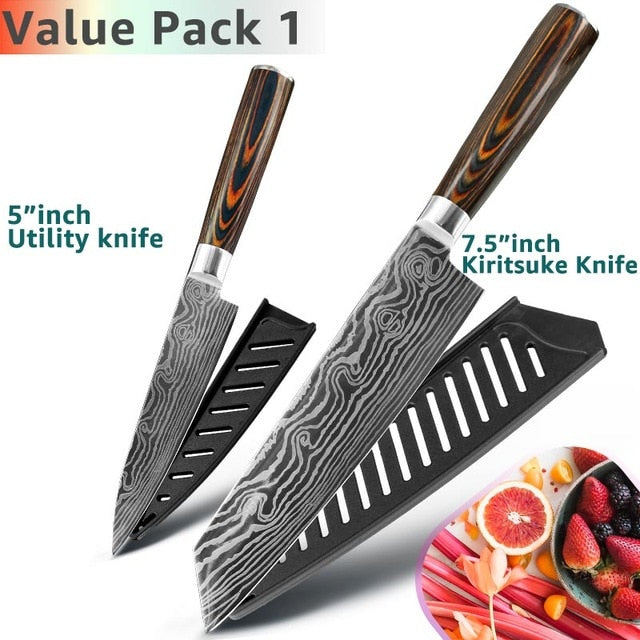 Eco-Friendly Kitchen knife - Chef Knives - 7.5 5 Value pack 1 - Arezel.com