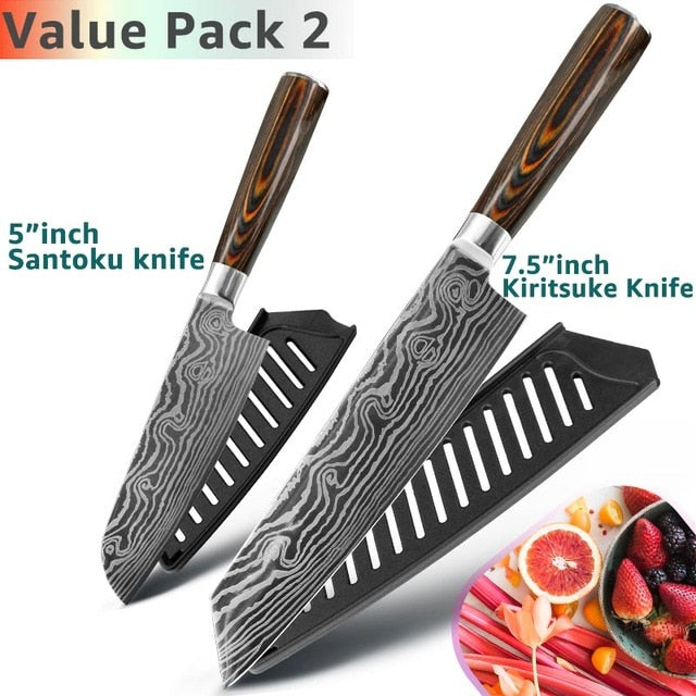 Eco-Friendly Kitchen knife - Chef Knives - 7.5 5 Value pack 2 - Arezel.com