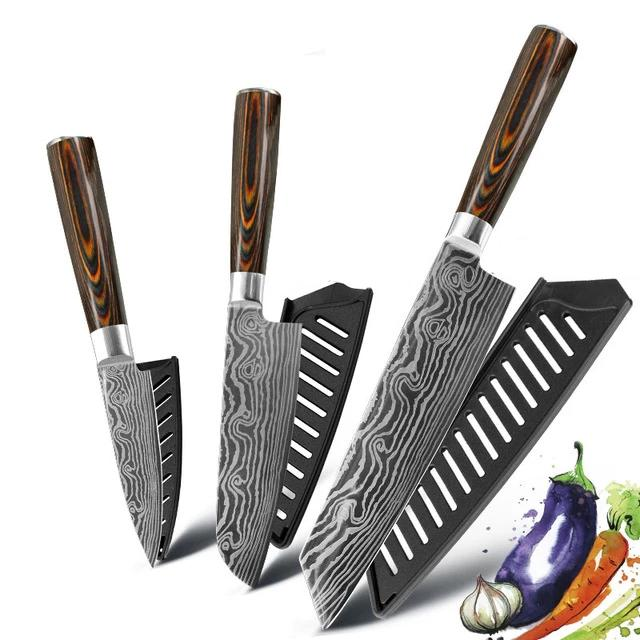 Eco-Friendly Kitchen knife - Chef Knives - 7.5 5 3 Value pack 4 - Arezel.com