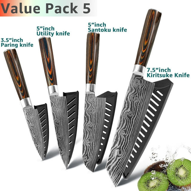Eco-Friendly Kitchen knife - Chef Knives - 4 Set Value pack 5 - Arezel.com