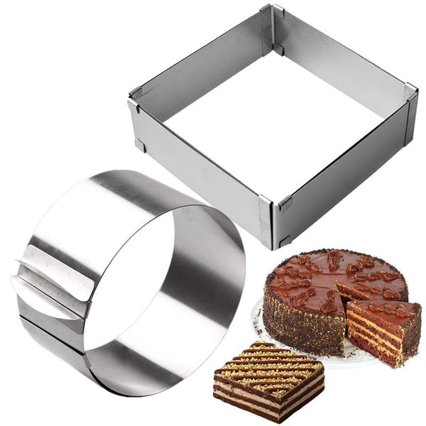 Adjustable Cake Mousse Ring - Cake Tools -  - Arezel.com