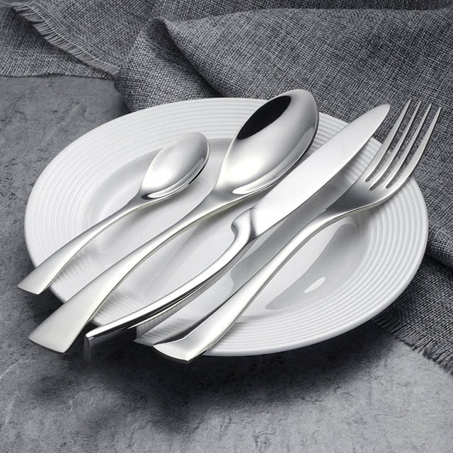 FRANCE SET - Flatware - 4 sets(16 pcs) / Silver - Arezel.com