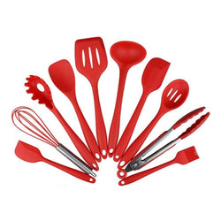 Heat Resistant Spoon - Cooking Tools - 10pcs Red - Arezel.com