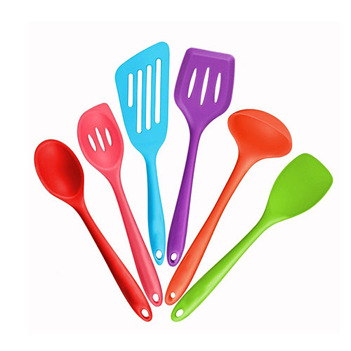 Heat Resistant Spoon - Cooking Tools - 6pcs Colorful - Arezel.com