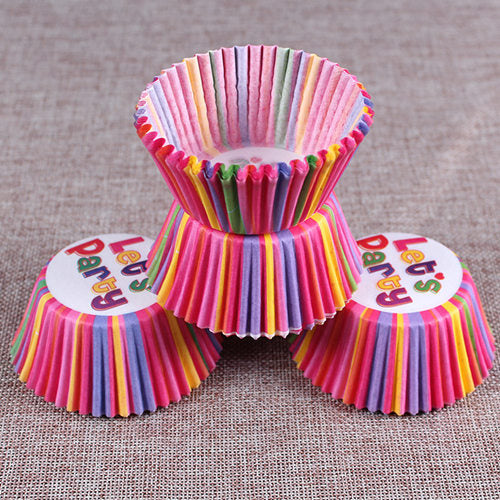 Colorful Paper Cake Cup - Cake Tools - Style 10 / Round - Arezel.com