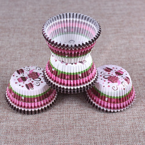 Colorful Paper Cake Cup - Cake Tools - Style 11 / Round - Arezel.com