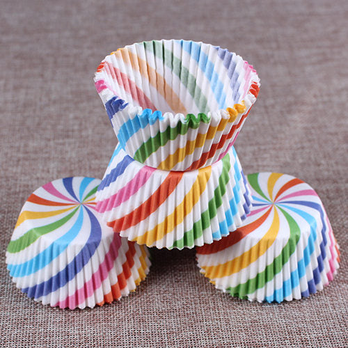 Colorful Paper Cake Cup - Cake Tools - Style 12 / Round - Arezel.com
