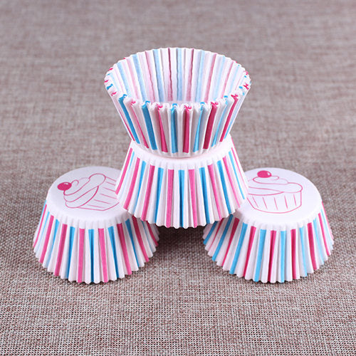 Colorful Paper Cake Cup - Cake Tools - Style 15 / Round - Arezel.com
