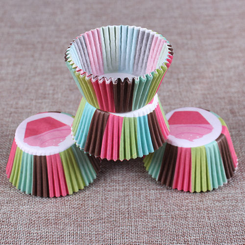 Colorful Paper Cake Cup - Cake Tools - Style 16 / Round - Arezel.com