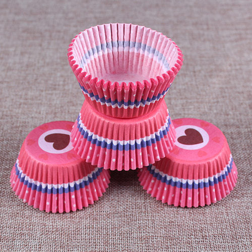 Colorful Paper Cake Cup - Cake Tools - Style 17 / Round - Arezel.com