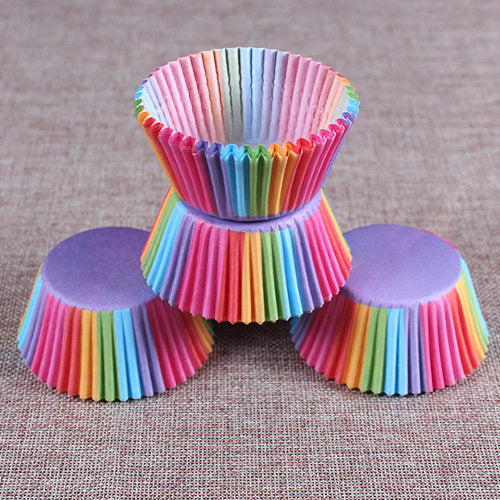 Colorful Paper Cake Cup - Cake Tools - Style 18 / Round - Arezel.com