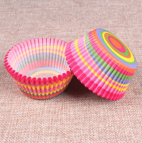 Colorful Paper Cake Cup - Cake Tools - Style 19 / Round - Arezel.com