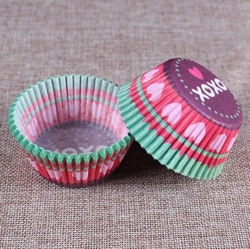 Colorful Paper Cake Cup - Cake Tools - Style 21 / Round - Arezel.com