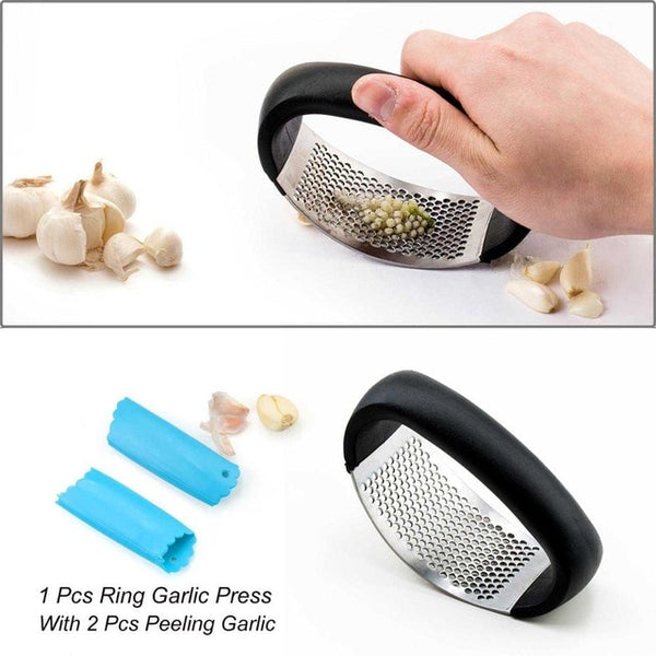 Garlic Press - Garlic Grater - 04 1pcs with peeler - Arezel.com