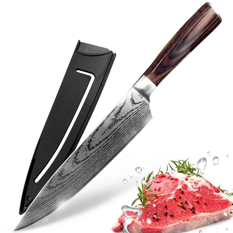 Damascus Sanding Japanese Chef Knife - Chef Knives -  - Arezel.com